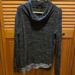 Black N gray cowl neck sweater
